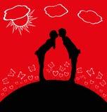 Młody całowanie Zdjęcia Royalty Free