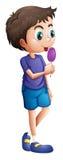 Młody chłopiec łasowania lizak ilustracji