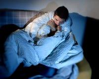 Młody chory przyglądający mężczyzna cierpienia zaburzenia psychiczne o obraz stock