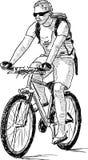 Młody cyklista Obraz Royalty Free
