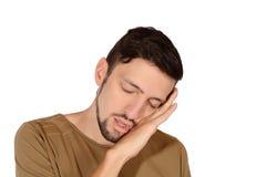 Młody człowiek śpiący Zdjęcia Stock