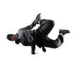 Młody człowiek breakdancing Zdjęcia Royalty Free
