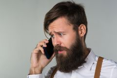 Młody człowiek broda zdjęcie stock
