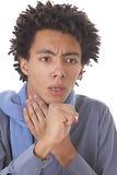 Młody człowiek caughing Zdjęcie Stock