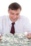 Młody człowiek i pieniądze obraz stock