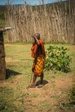 Młody człowiek Masai wioska, Kenia Fotografia Stock