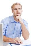 Młody człowiek przy biurowym główkowaniem Zdjęcie Royalty Free
