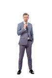 Młody człowiek w krawacie z szkłami Zdjęcie Stock