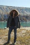 Młody człowiek w zimy kurtce Obraz Stock