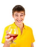 Młody Człowiek z alkoholem Obrazy Stock