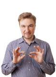 Młody człowiek z kluczem Fotografia Stock