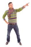 Młody człowiek z mody spojrzeniem Fotografia Stock