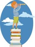 Młody czytelnik royalty ilustracja