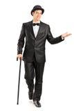 Młody dżentelmen w galanteryjnym kostiumu Obrazy Royalty Free