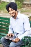 Młody dorosły indyjski sikhijski mężczyzna Zdjęcia Royalty Free