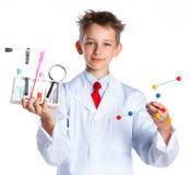 Młody entuzjastyczny chemik obrazy royalty free