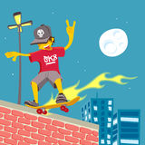 Młody facet - Tailslide na ogieniu! Obrazy Stock