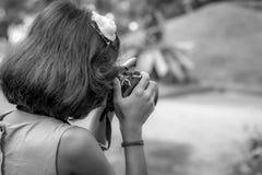 Młody fotograf fotografia stock
