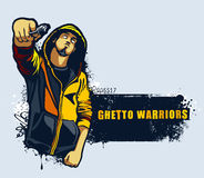 Młody gangster ilustracja wektor
