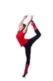 Młody gimnastyczki ćwiczyć Obrazy Royalty Free