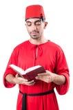 Młody gniewny z książką Zdjęcie Stock