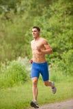 Młody i szczęśliwy jogger obraz stock