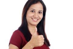 Młody indianin robi aprobatom fotografia stock