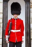 Młody irlandczyka strażnik przy wierza Londyn obraz stock