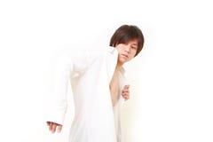 młody Japoński biznesmen dostaje ubierający dla biura obrazy royalty free