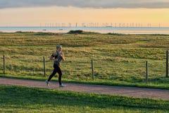 Młody jogger w starym środowisku zdjęcia royalty free