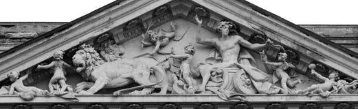 Młody Jupiter podróżuje w rydwanie rysującym lwem (Zeus) Zdjęcia Stock