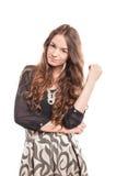 Młody kobieta model z piękny i naturalny długie włosy Obrazy Stock