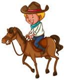 Młody kowboj ilustracja wektor