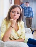 Młody mąż wini dziewczyny podczas kłócić się Obraz Royalty Free