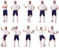 Młody męski gracz futbolu Zdjęcie Stock