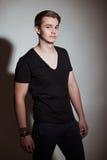 Młody męski moda modela pozować Fotografia Stock
