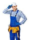Młody męski pracownik budowlany Obraz Royalty Free