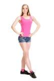 Młody mięśniowy target806_0_ kobiety Fotografia Stock