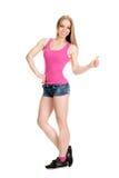 Młody mięśniowy target806_0_ kobiety Zdjęcie Stock