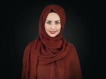 Młody Muzułmański kobieta portret Fotografia Royalty Free