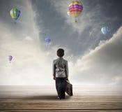 Młody pełny nadziei biznesmen Fotografia Stock