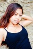 Młody piękny Azjatycki dziewczyna portret target3368_0_ dosyć azjatykcia dziewczyna Obrazy Stock