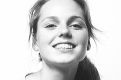 Młody piękny pieg kobiety twarzy portret z zdrowym skóra b zdjęcia royalty free