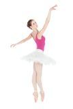 Młody piękny tancerz target310_0_ na studiu fotografia royalty free