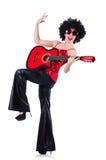 Młody piosenkarz z afro cięciem Zdjęcie Stock