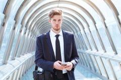 Młody przedsiębiorcy portret fotografia stock