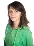 Młody przypadkowy kobieta stylu portret obrazy royalty free