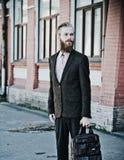 Młody przystojny atrakcyjny brodaty wzorcowy mężczyzna Zdjęcie Royalty Free
