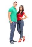 Młody przystojny pary pozować Zdjęcie Stock