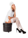 Młoda seksowna kobiety lekarka zdjęcie royalty free